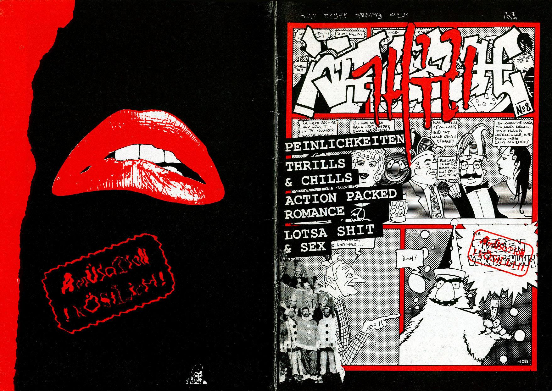 Titelbild und Rückseite - Frosch 8 - Schülerzeitung des Theresianum Mainz, 1993